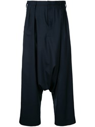 Kolor Drop Crotch Trousers Blue