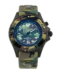 Kyboe Camo Stainless Steel Strap Watch Green