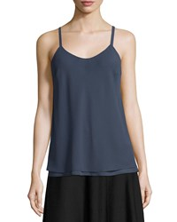 Nic Zoe Paired Up Scoop Neck Layered Tank Slate