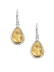 Gurhan Amulet 24K Gold Plated And Sterling Silver Pear Drop Earrings