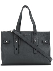 Orciani Top Handle Tote Bag Black
