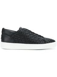 Alexander Smith Woven Lace Up Sneakers Black