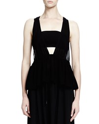Chloe Sleeveless Bandeau Babydoll Top Black