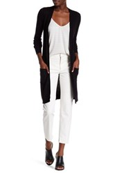 Joseph A Pointelle Duster Cardigan Black