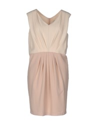 Bonsui Short Dresses Beige