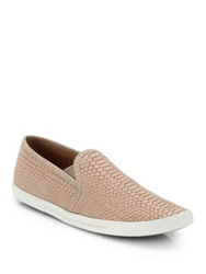Joie Kidmore Crocodile Embossed Leather Sneakers Flint Black Dusty Pink Sand