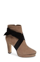 Karl Lagerfeld Malia Bootie Taupe Suede