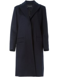 Cedric Charlier Single Breasted Coat Blue
