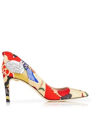 Carven Floral Court Shoes Multi Multi