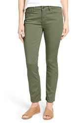 Jen7 Women's Colored Stretch Ankle Skinny Jeans Fatigue