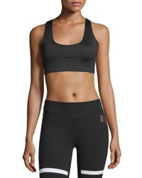 Monreal London Essential Sports Performance Bra W O Cups Black Pattern