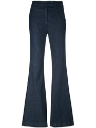 Current Elliott High Rise Flared Jeans Blue