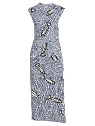 Sportmax Lino Dress Blue White