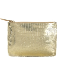 Rochas Embossed Crocodile Effect Clutch
