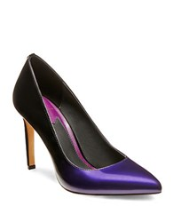Brian Atwood Malika Patent Leather Pumps Purple