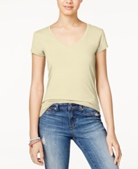 Energie Juniors' Mila V Neck Tee Putty