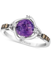 Le Vian Chocolatier Amethyst 1 1 6 Ct. T.W. And Diamond 1 8 Ct. T.W. Ring In 14K White Gold Purple