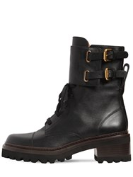 See By Chloe 40Mm Mallory Leather Ankle Boots Black