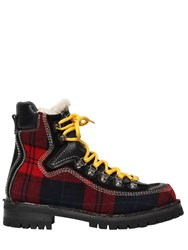 Dsquared 40Mm Canada Plaid Hiking Boots