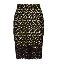 Moschino Lace Overlay Pencil Skirt Black