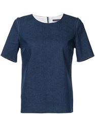 Harvey Faircloth Boxy Fit Top Blue