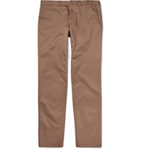 Paul Smith Slim Fit Stretch Cotton Twill Trousers Brown