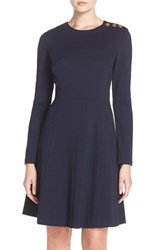 Women's Eliza J Long Sleeve Fit And Flare Dress