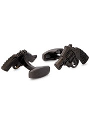 Simon Carter Swarovski Embellished Gun Cufflinks Black
