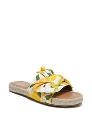Franco Sarto Phantom Printed Canvas Espadrilles Yellow