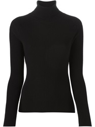 Odeeh Roll Neck Ribbed Sweater Black