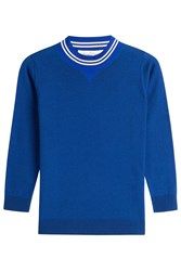 Golden Goose Merino Sporty Sweater Blue