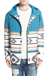 Men's Neff 'Bloom' Water Resistant Quilted And Jacquard Woven Hooded Jacket