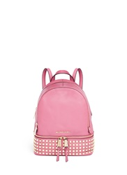 Michael Kors 'Rhea' Small Stud Leather Backpack Pink
