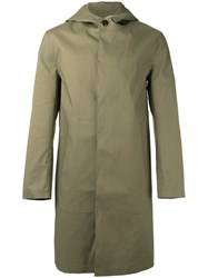 Mackintosh Button Down Coat Green