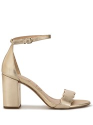 Sam Edelman Odila Scalloped Strap Sandals Gold