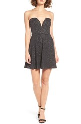 Trixxi Women's Sweetheart Fit And Flare Dress