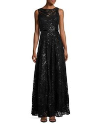 Karl Lagerfeld Sequin Embellished Swing Gown Black