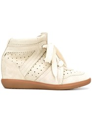 Isabel Marant Bobby Wedge Sneakers Grey