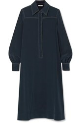Co Crepe Midi Dress Navy