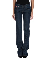 Prada Luna Rossa Denim Denim Trousers Women Blue