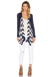 Splendid Parasol Stripe Cardigan Navy