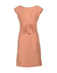 Dinou By Joaquim Jofre' 3 4 Length Dresses Salmon Pink