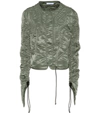 J.W.Anderson Cropped Corded Jacket Green
