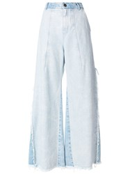 Chloe Distressed Flared Jeans Blue