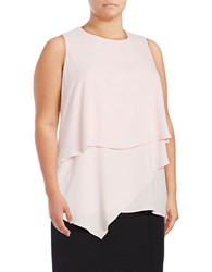 Vince Camuto Plus Sleeveless Asymmetric Layered Blouse