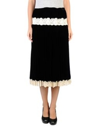 Meadham Kirchhoff 3 4 Length Skirts Black