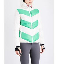 Perfect Moment Super Day Quilted Shell Jacket White Nordic Green