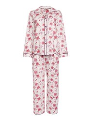 Cyberjammies Floral Print Pyjama Set Cream