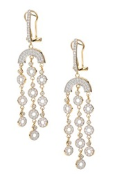 Cz Chandelier Earrings Metallic