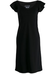 Boutique Moschino Ruffle Shoulder Dress Black